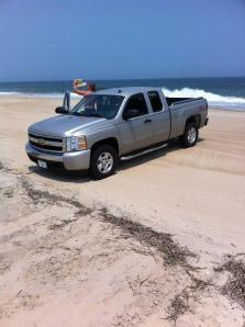 Mike Marvel surf fishing a Delaware beach